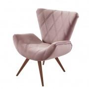 Poltrona Decorativa Valência - Veludo Rosa Seco