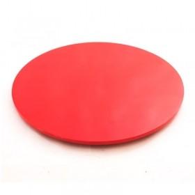Prato Giratório de Mesa com Lâmina de Madeira Vermelho 70 cm