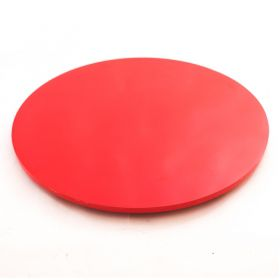 Prato Giratório de Mesa com Lâmina de Madeira Vermelho 80 cm