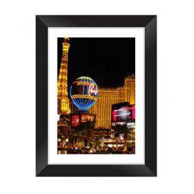 Quadro Decorativo com Moldura em Madeira Maciça e Vidro Las Vegas C036