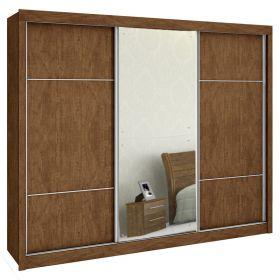 Quarto Casal Malibu 03 Portas De Correr 02 Espelhos D' Doro