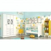 Quarto de Bebê Delicato 04 portas com Berço Mini Cama Tcil