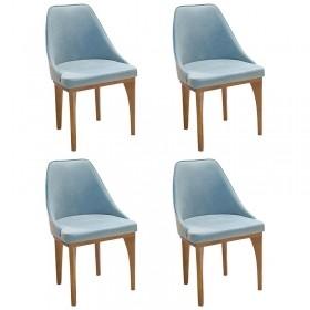 Sala De Jantar Mônaco Mesa Redonda 120 Cm 04 Cadeiras