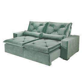 Sofá Reclinável e Retrátil com Almofadas Pirulito 290 cm 6012 Lufer