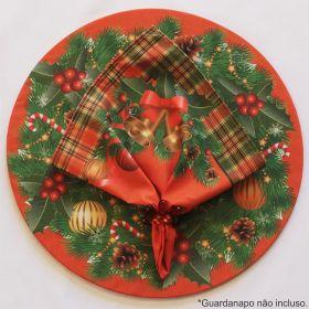 Sousplat Base e Capa em Tecido Natal