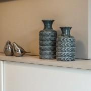 Vaso Decorativo Grande em Cerâmica Azul