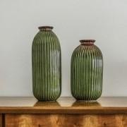Vaso Decorativo Médio em Cerâmica verde