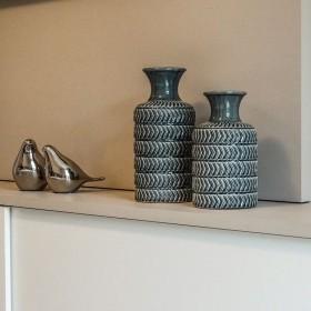 Vaso Decorativo Pequeno em Cerâmica Azul