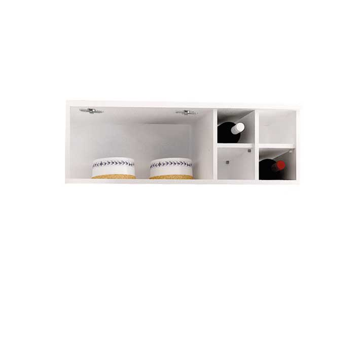 Armário Refrigerador Palmeira Ratan com porta basculante e mini adega 1100 Branco