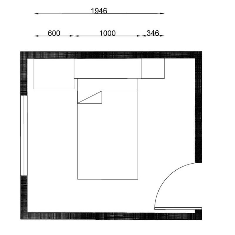Quarto de solteiro Modulado 4 peças Palmeira Buri 12