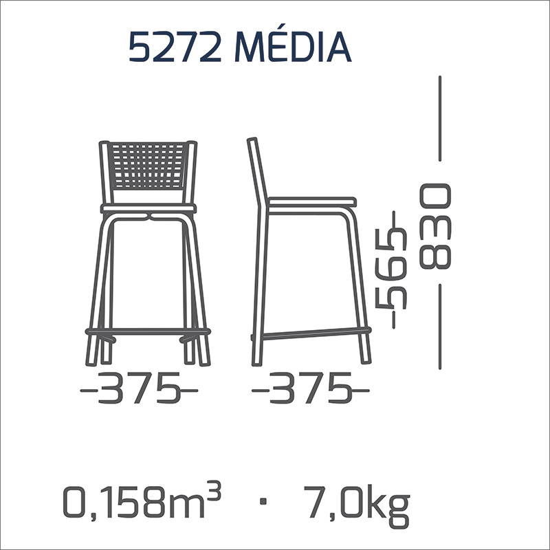 2 Banquetas Média Encosto Aramada Modelo 527