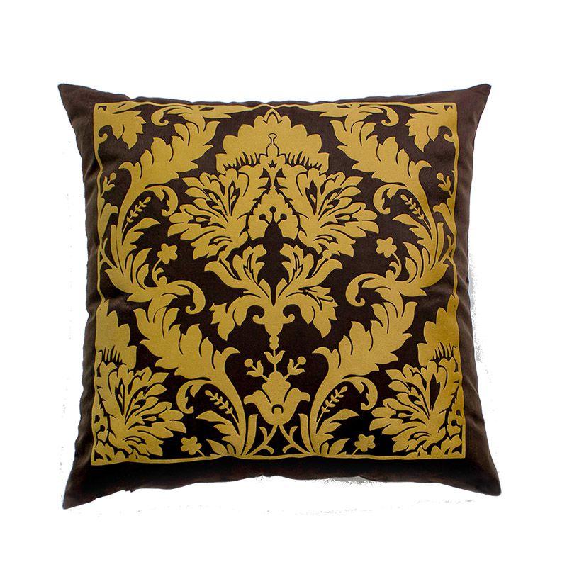 Almofada Decorativa Belga Café e Capuccino 45x45 cm