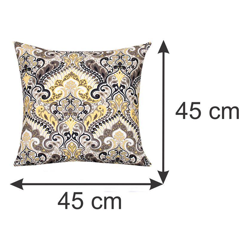 Almofada Decorativa Estampada Amarela 45 x 45 cm Spazzio