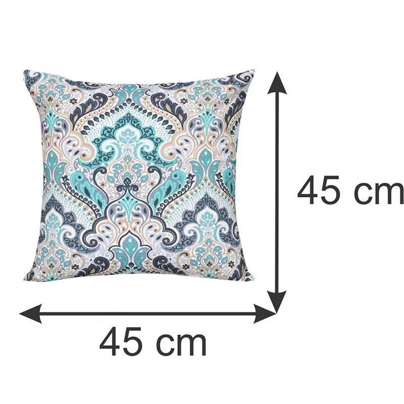 Almofada Decorativa Estampada Azul 45 x 45 cm Spazzio