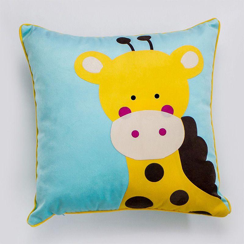 Almofada Infantil Quadrada 40x40 Cm Baby Girafinha