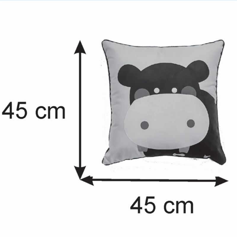 Almofada Infantil Quadrada 40x40 Cm Baby Hipopotamozinho
