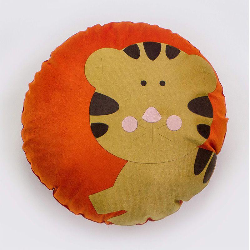Almofada Infantil Redonda 35 Cm Baby Tigrezinho