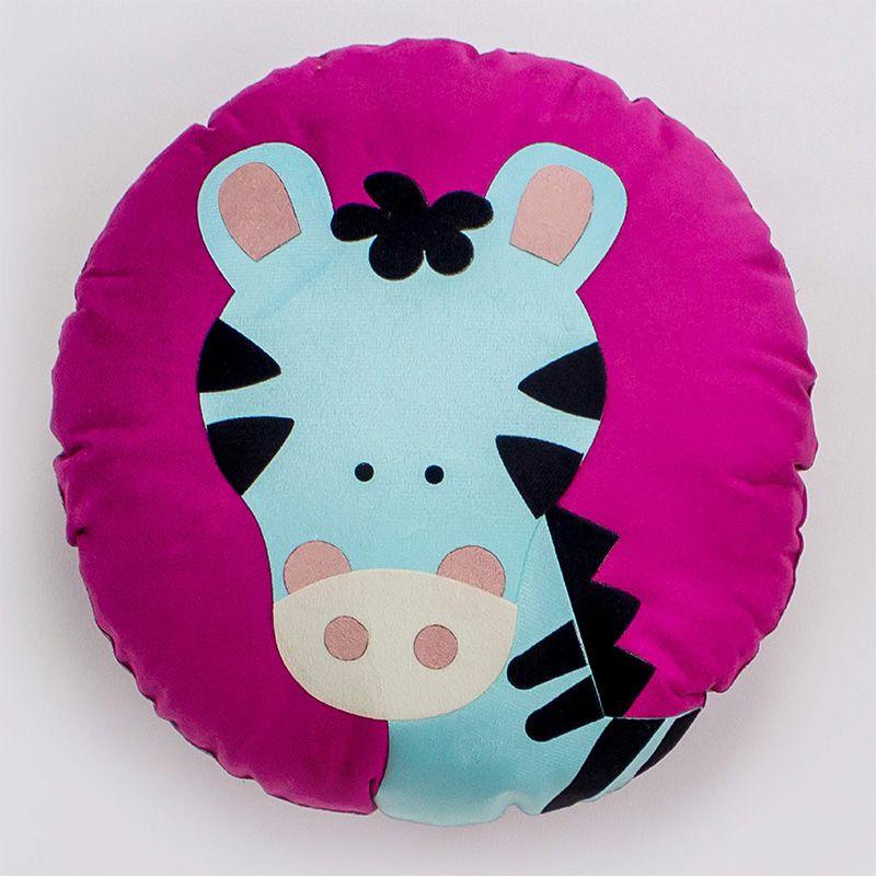 Almofada Infantil Redonda 35 Cm Baby Zebrinha