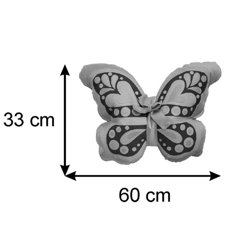 Almofada Infantil Temática 60 X 33 Cm Baby Borboletinha