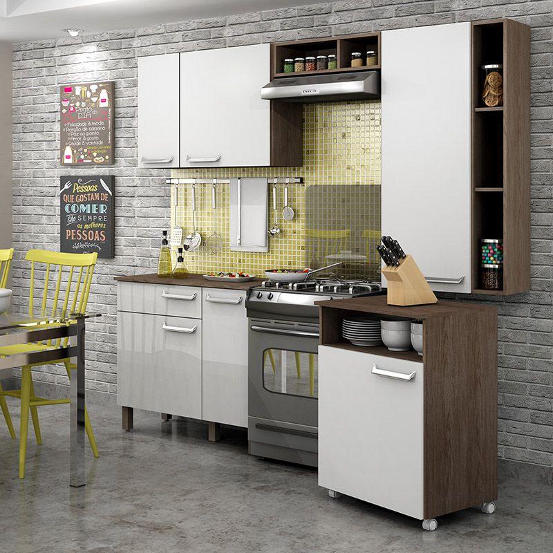 Balcão móvel de cozinha com nicho Decari 31110