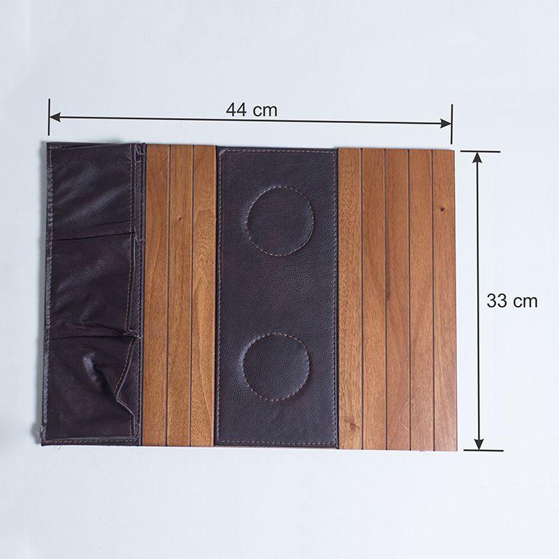 Bandeja de madeira para Sofá Porta Copos e Controle Mel