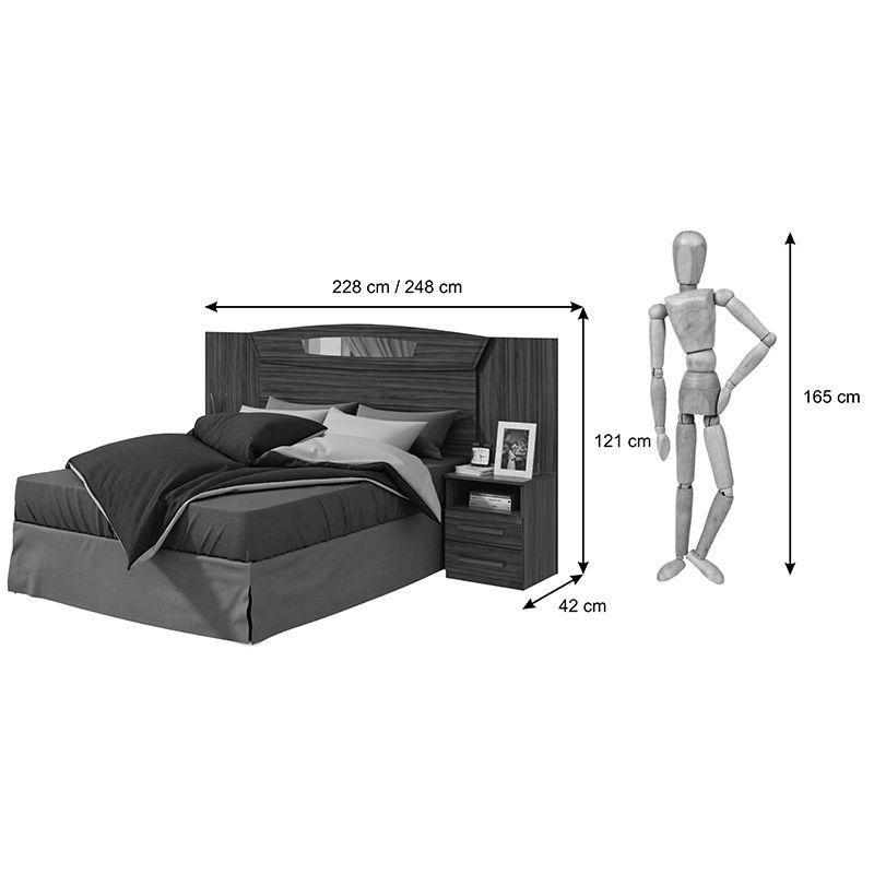 Cabeceira Extensível para Cama Box Casal/Queen com Criados Novitá Lopas