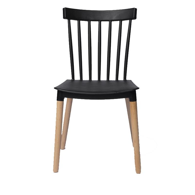 Cadeira Gabriela em Polipropileno e Pés em Madeira