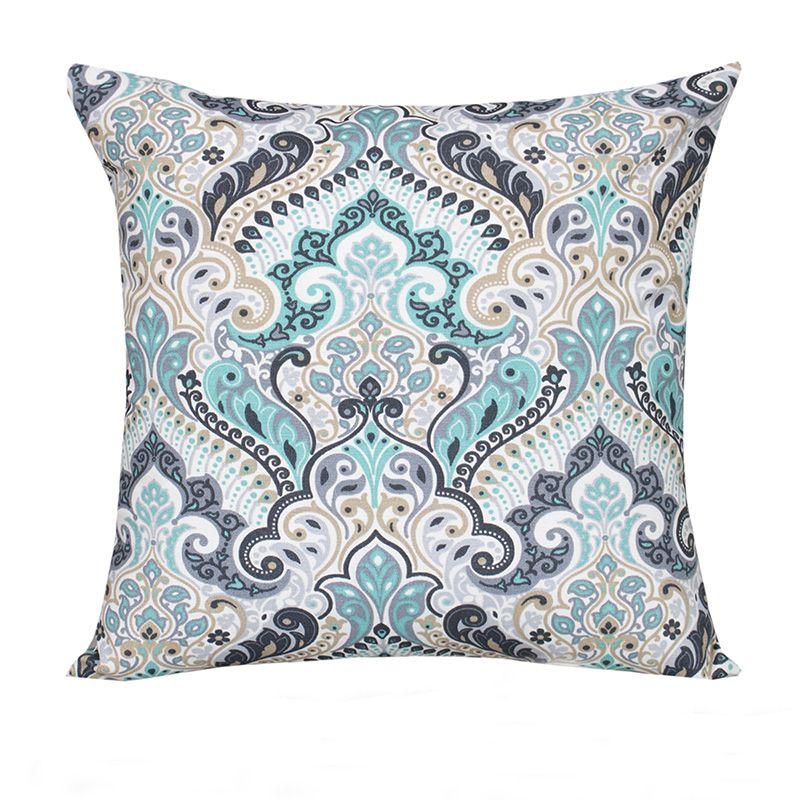 Capa para Almofada Decorativa Estampada Azul 45 x 45 cm Spazzio