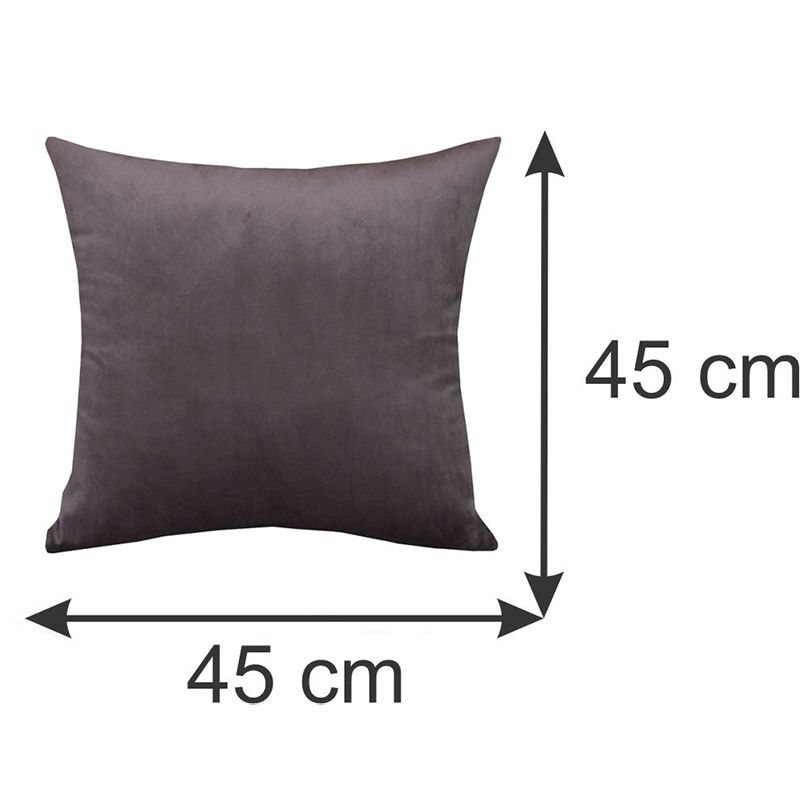 Capa para Almofada Decorativa Marrom 45 x 45 cm Spazzio