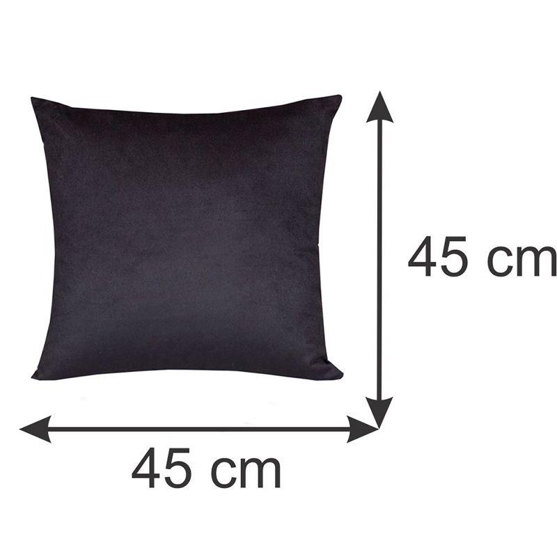 Capa para Almofada Decorativa Preta 45 x 45 cm Spazzio