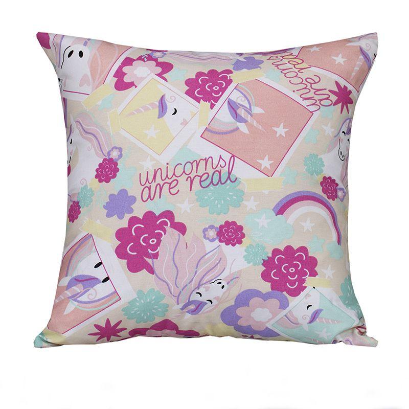 Capa para almofada Decorativa Unicórnio 45 x 45 cm Spazzio