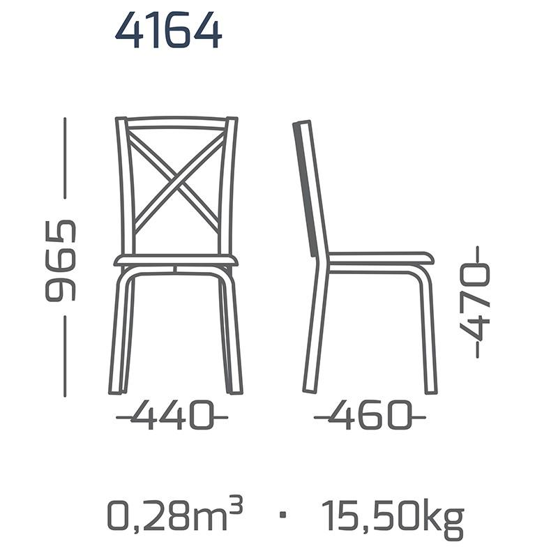 Conj. p/ s. jantar com mesa de madeira estilo demolição 1400 x 90 cm e 06 cadeiras 416 Amarelas