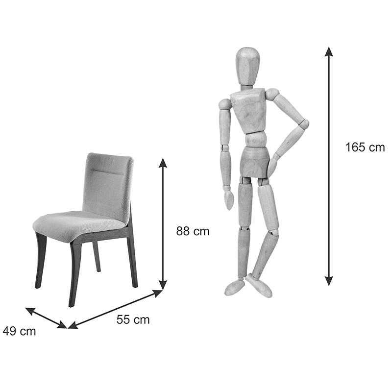 Conjunto 02 Cadeiras Dani Com Encosto E Assento Anatômico Matos e Lopes