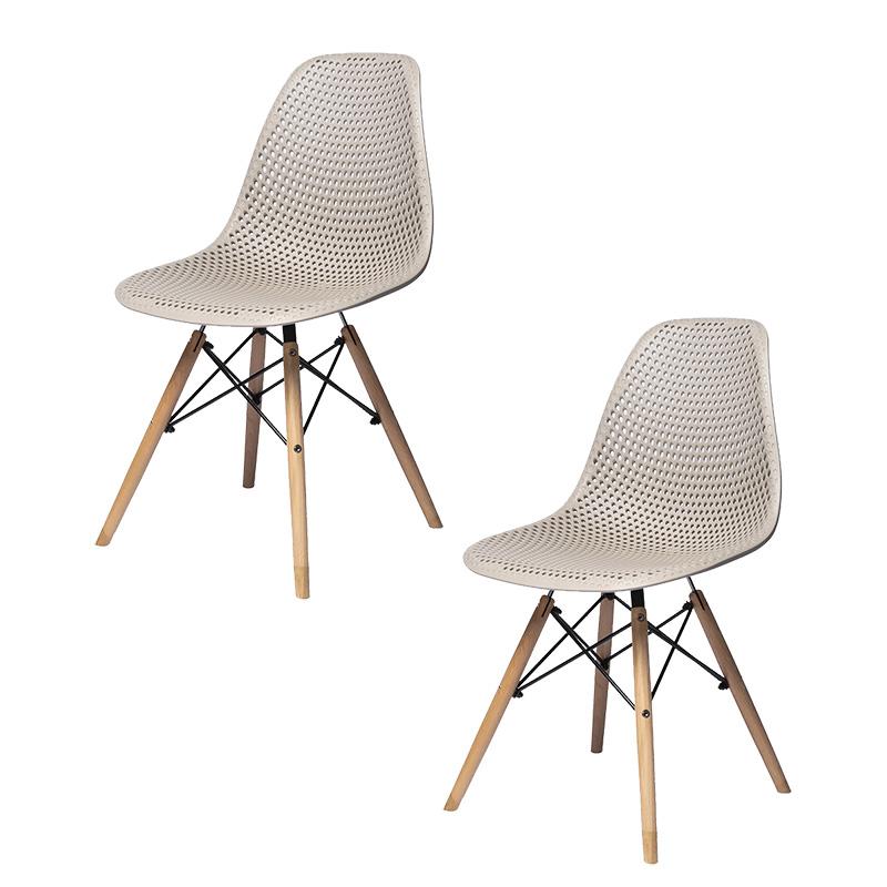 Conjunto 02 Cadeiras Eiffel Furadinha