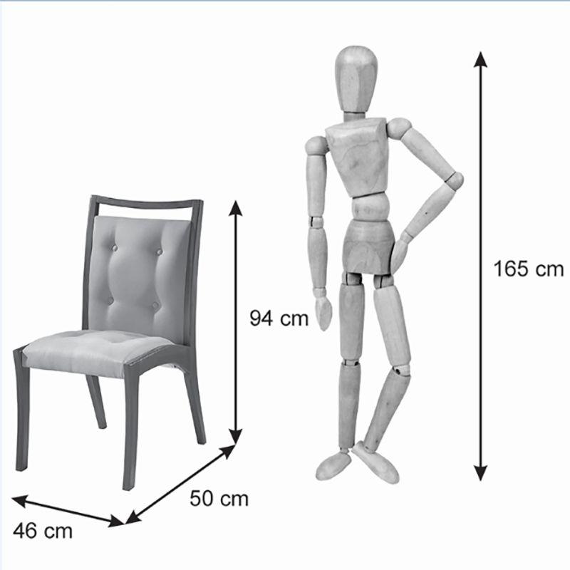 Conjunto 02 Cadeiras Ibiza Tauari Castanho Premium