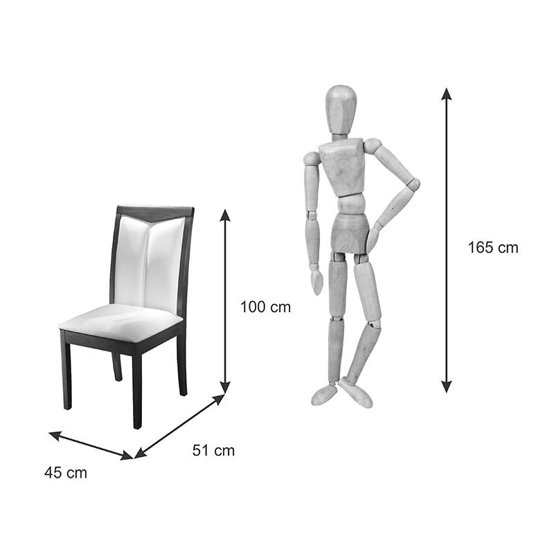 Conjunto 02 Cadeiras Itália Encosto Estofado Com Costura Matos e Lopes