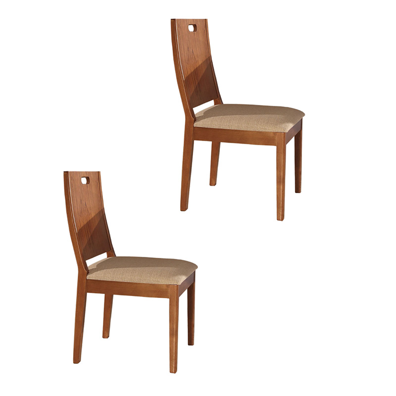 Conjunto 02 Cadeiras Medina Com Encosto Em Madeira Matos E Lopes