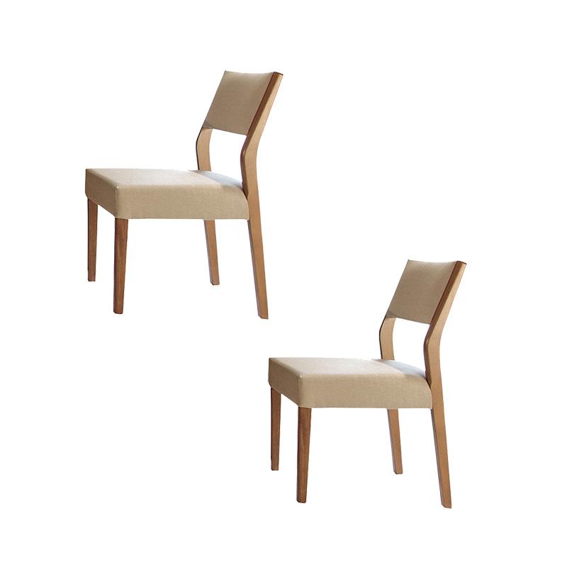 Conjunto 02 Cadeiras Sérvia Com Encosto Estofado Matos E Lopes