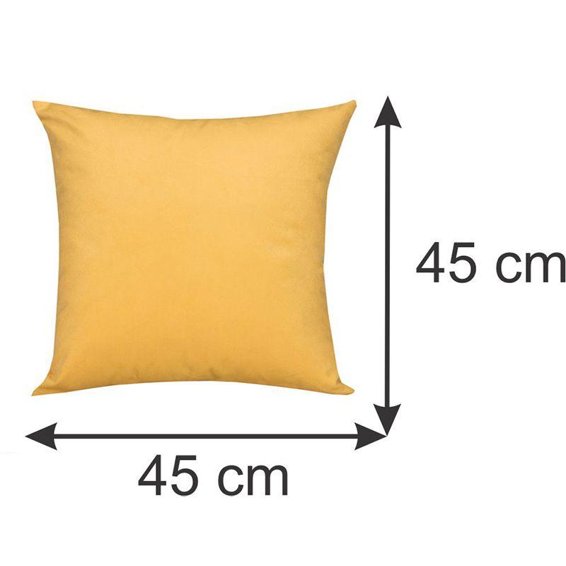 Conjunto 03 capas para Almofadas Decorativas Amarelo 45 x 45 cm Spazzio