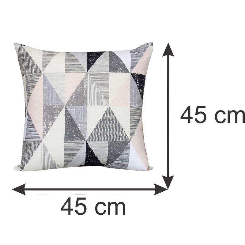 Conjunto 03 capas para Almofadas Decorativas Geométricas 45 x 45 cm Spazzio
