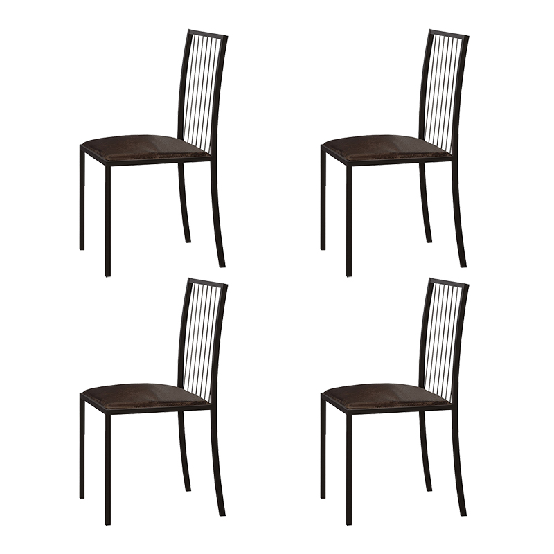 Conjunto 04 Cadeiras Atos Em Metal Mais Decor