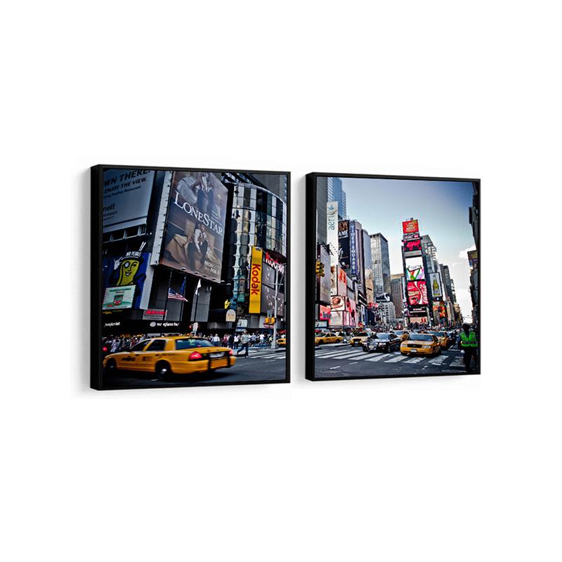 Conjunto 2 Quadros Decorativos Cidade De NY