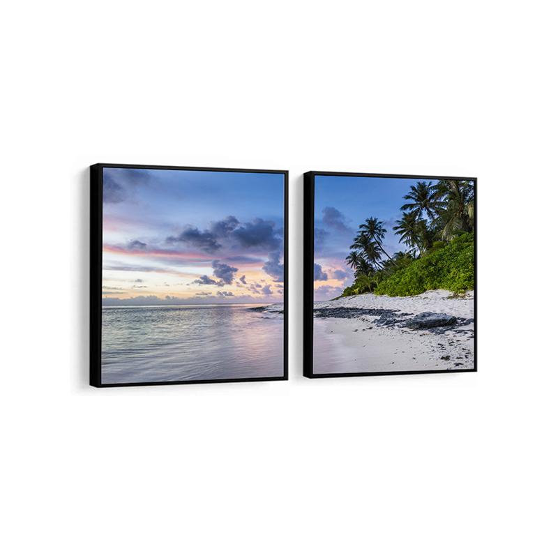 Conjunto 2 Quadros Decorativos Praia e Oceano