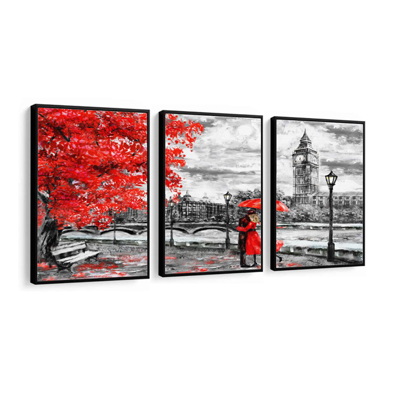 Conjunto 3 Quadros Decorativos Londres