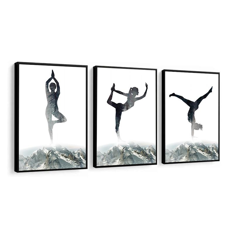 Conjunto 3 Quadros Decorativos Movimento