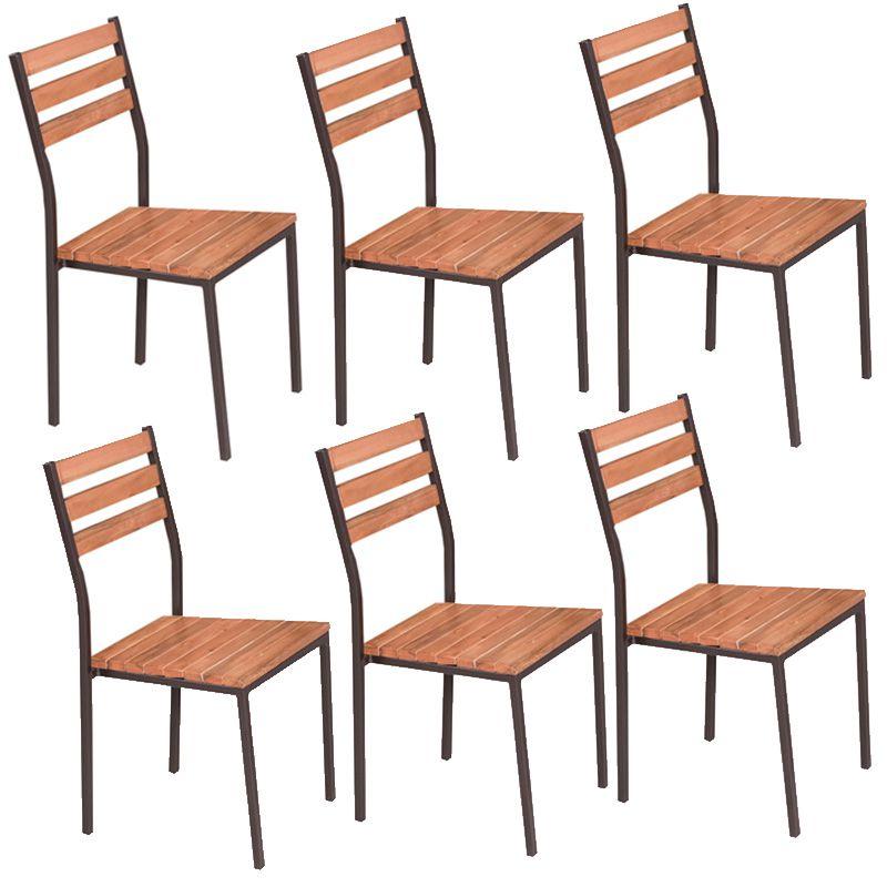 Conjunto Açaí Mesa Em Madeira E Aço 140 Cm E 06 Cadeiras 541 Modecor