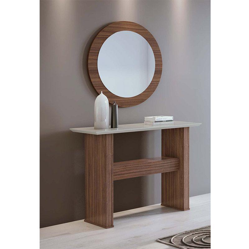 Conjunto Aparador e Quadro com espelho Anápolis Lopas