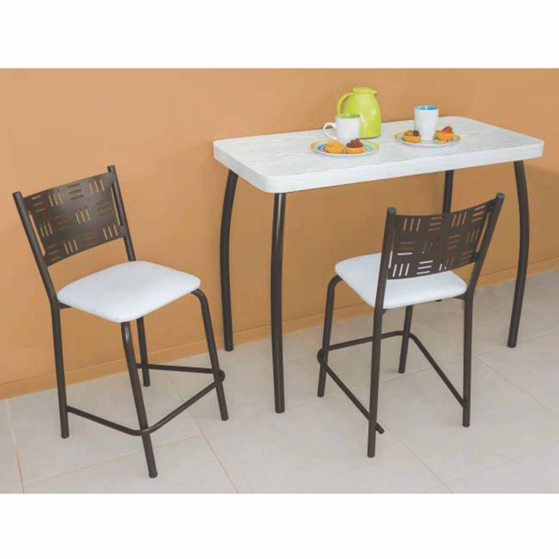 Conjunto de Mesa com 02 Banquetas Café Modelo Alexandrita