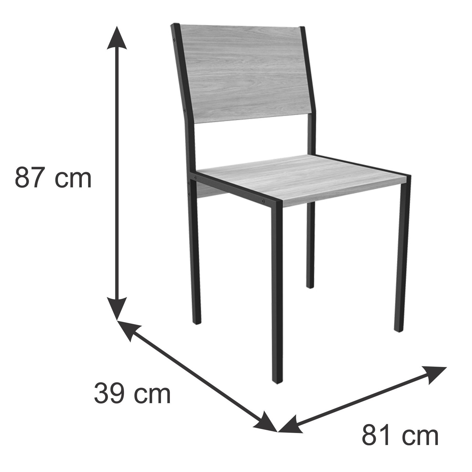 Conjunto Industrial Escrivaninha 120 cm e Cadeira Dafine Itapuã e Preto