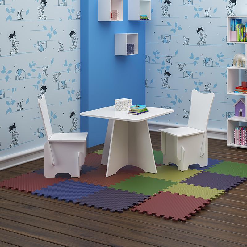 Conjunto Mesinha Infantil Com 02 Cadeirinhas Twister Tcil